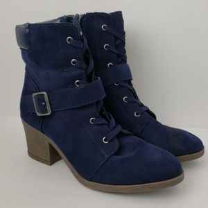 Rouge Helium Navy Blue Boots